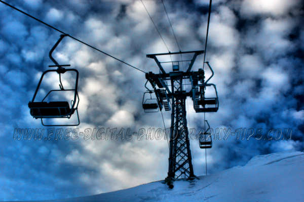 This is a photo of some awesome looking clouds, that was taken while riding on the ski hill lift in Klewenalp Switzerland on Jan. 1st, 2008.