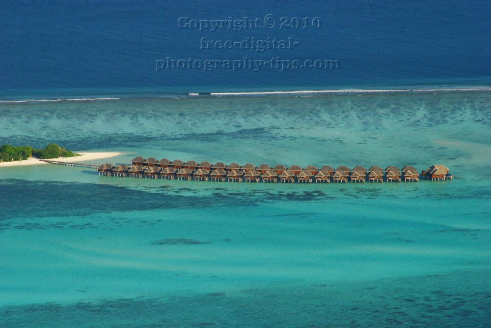 Maldives water bungalows Maldives Islands Trans Maldivian seaplane Sun Island