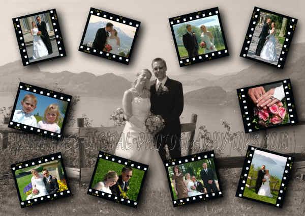 switzerland wedding photo collage photography