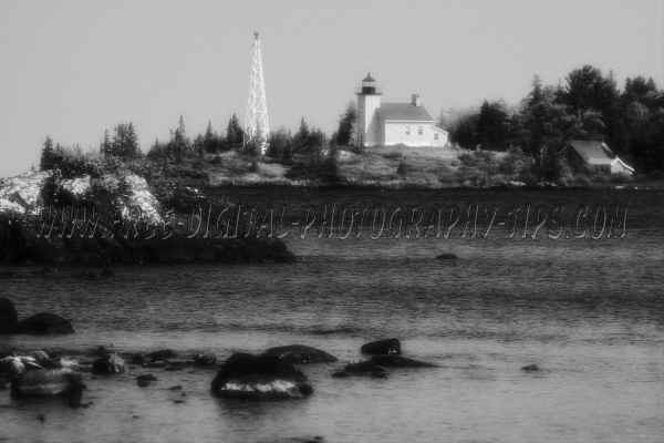 Copper Harbor Michigan lighthouse beautiful Lake Superior Upper Peninsula Michigan.