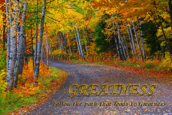 fall colors foliage michigan dirt road colorful leaves motivational spiritual inspirational photography